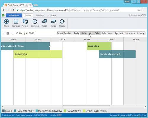 oprogramowanie awizacje kalendarz timeline