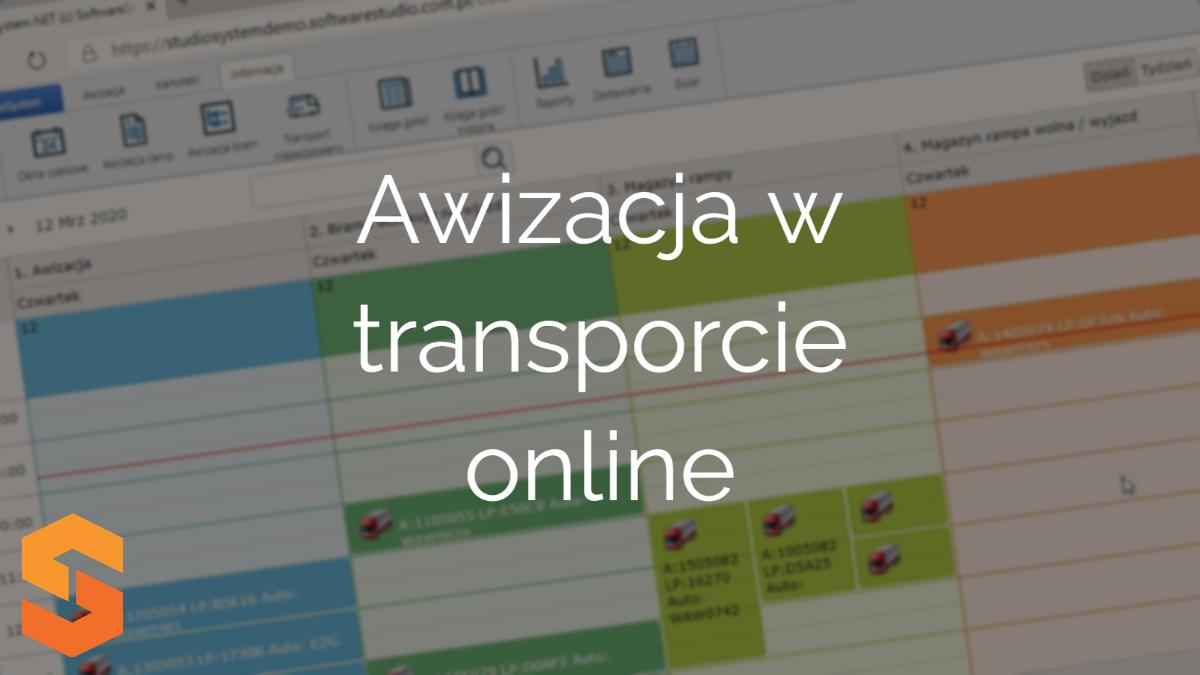 Awizacja transportu online